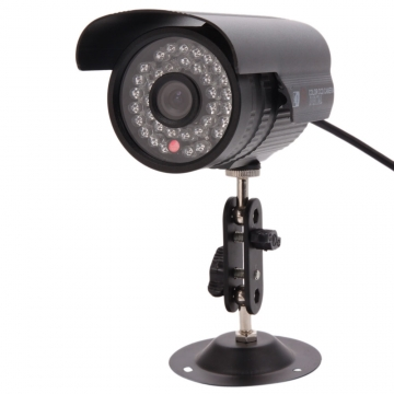 1200TVL HD Waterproof 36 IR Night Vision Outdoor CCTV Surveillance Camera System black ntsc system