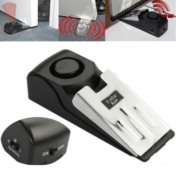 Safety Gate Resistance Door Stop Alarm Stopper Home Security Preventing black one size