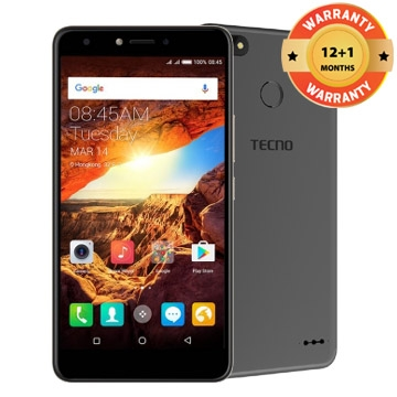 TECNO Spark K7, 16+1GB, 13+5MP, 5.5 Inch, Hios 2.1, 3000mAh,  Smart phone Black