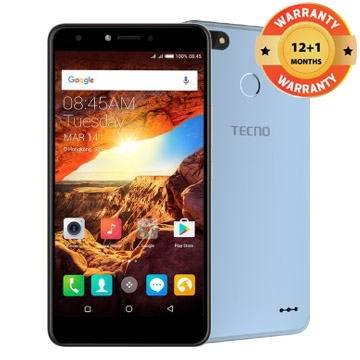 TECNO Spark K7, 16+1GB, 13+5MP, 5.5 Inch, Hios 2.1, 3000mAh,  Smart phone Blue