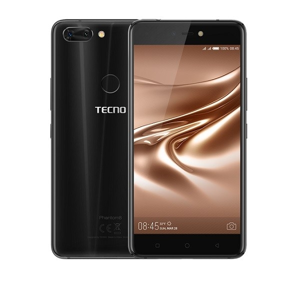 TECNO Phantom 8 with free gifts +Telkom 4G+ Kettle+ Water Bottle+ Self Stick black