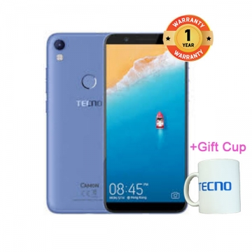 TECNO Camon CM - 5.7Inch 18:9 Full Display - 16+2GB,13+13MP, 4G LTE Blue