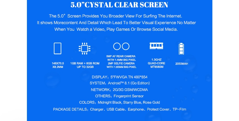 "Itel A32F 10TH,5"",8GB,smart phone rose gold 2"