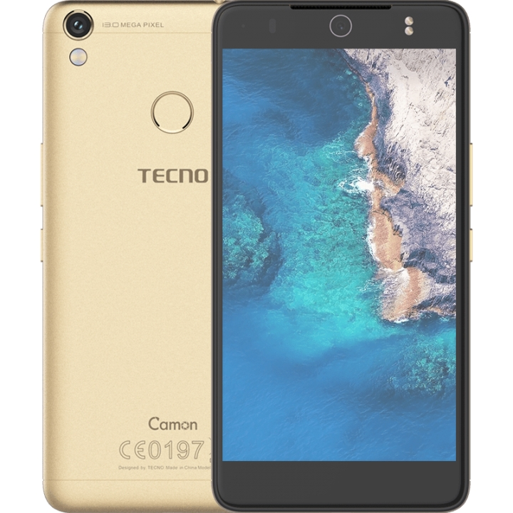 "TECNO Camon CX Air - 5.5"" - 16GB - 2GB RAM - 13MP Camera - 4G/LTE - Dual SIM gold"