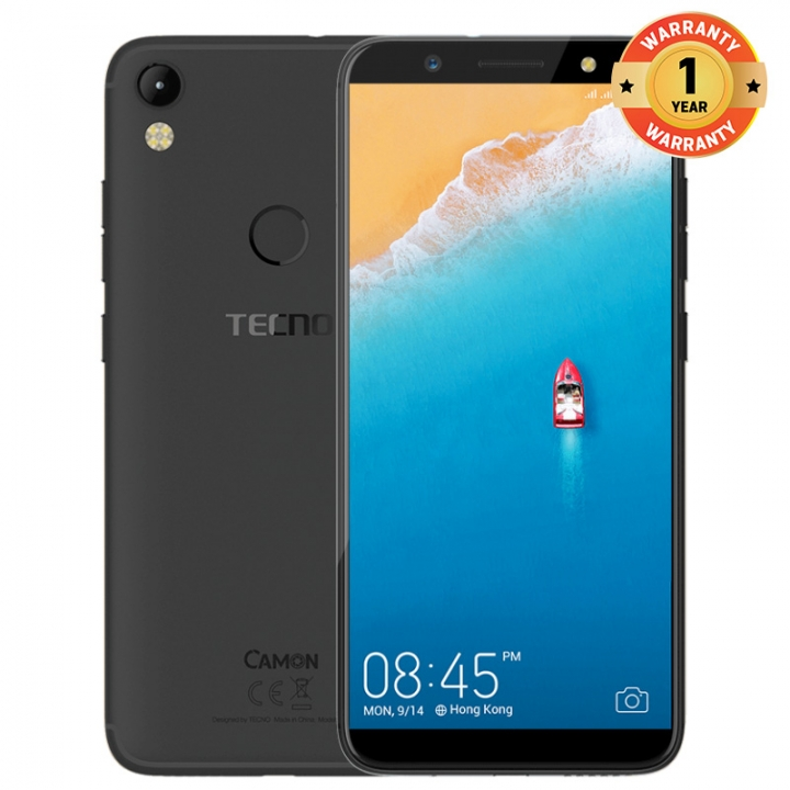 TECNO Camon CM, 5.7'', 2+16GB, 13+13MP, Fingerprint , 3000 mAh, 4G LTE,   Smartphone midnight black