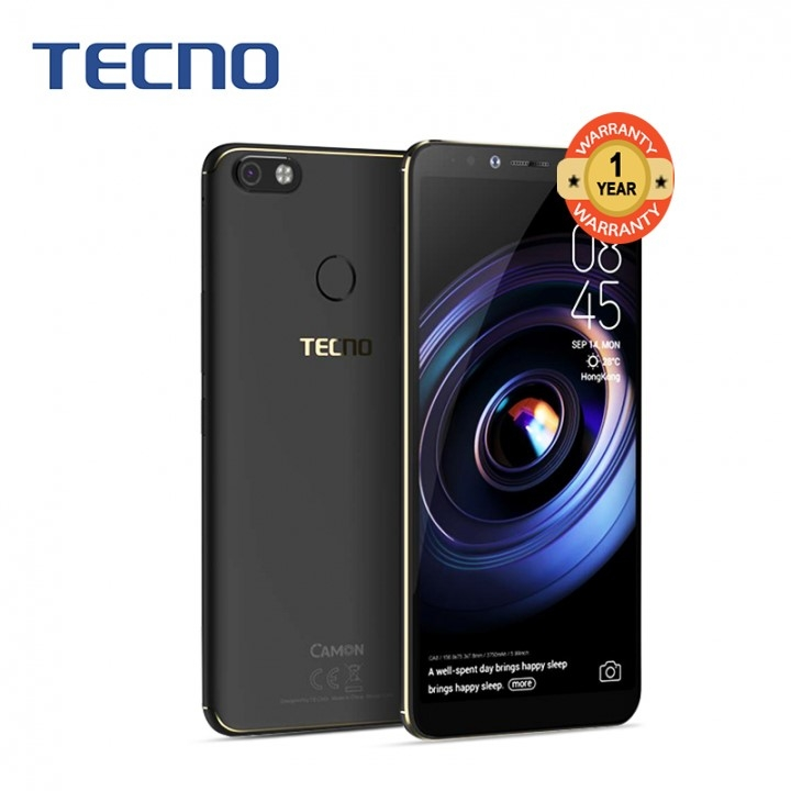 "TECNO SPARK2, 6.0""HD, 16GB+1GB, 13MP+8MP, Face Unlock, 13 months warranty Midnight Black"