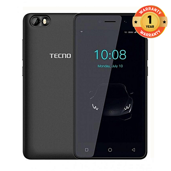 TECNO F1 - [8GB+1GB RAM] - 5.0 Display, Dual SIM Smartphone New Smart Phone ELEGANT BLACK