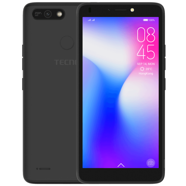 TECNO POP 2 Power-16GB+1GB RAM-5.5 inch-8PM+5PM midnight black