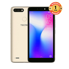 TECNO POP 2 Power-16GB+1GB RAM-5.5 inch-8PM+5PM champagne gold