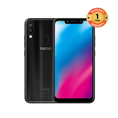 TECNO CAMON 11 64GB+4GB RAM-6.2'' HD-16MP+5MP-3750 mAh-Face ID Smart phone black