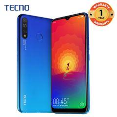 "Tecno Spark 4 , 32GB+2GB ,6.52"" HD Triple camera Dual SIM Smartphone, Smart phone blue"