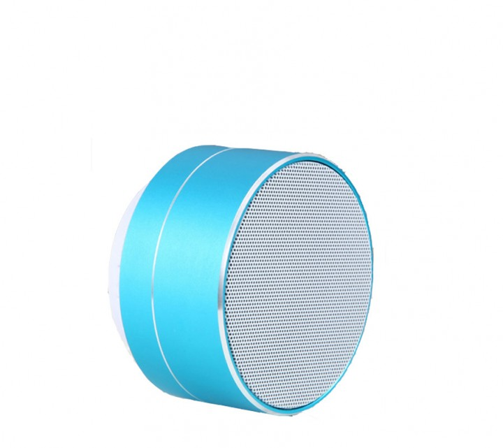 Shevi Wireless Bluetooth Speaker Mini Portable Subwoof Sound with Mic Support TF Card FM Radio AUX blue Round