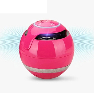 Portable Bluetooth Speaker Wireless Stereo Audio Radio FM TF Card AUX Hands-Free with LED red same size