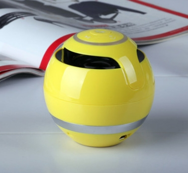 Portable Bluetooth Speaker Wireless Stereo Audio Radio FM TF Card AUX Hands-Free with LED yellow same size