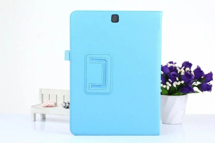 9.7inch Foldable PU Leather Stand Case Cover for Samsung Galaxy Tab S2 Tablet T815 Blue 9.7