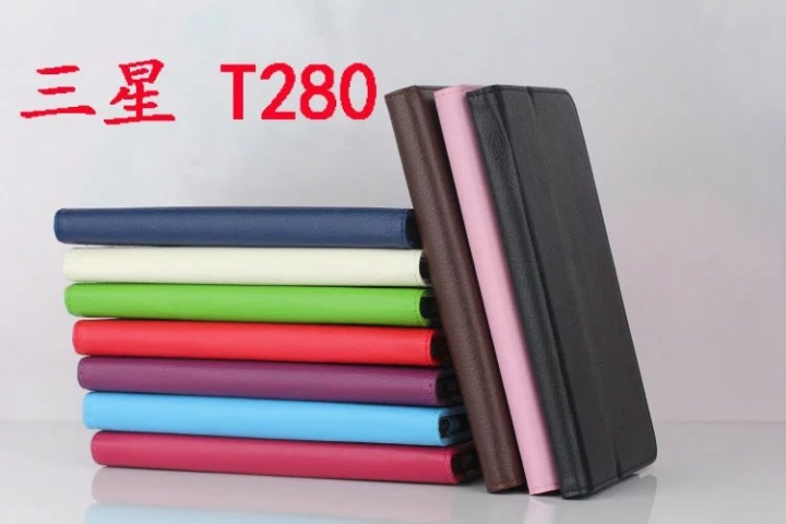 """7"""" Tablets Case Cover with Holder for Sangsung Galaxy Tab A 7.0 T280/T280N Brown 7"""