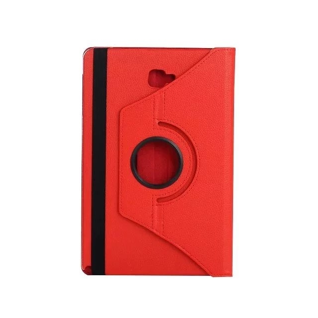 "10.1"" Soft PU Fabric Tablets Case Cover 360 Degree Swivel Holder for Samsung Tab A 10.1 P580/P585 red 10.1"