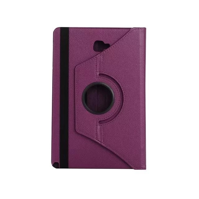 "10.1"" Soft PU Fabric Tablets Case Cover 360 Degree Swivel Holder for Samsung Tab A 10.1 P580/P585 purple 10.1"