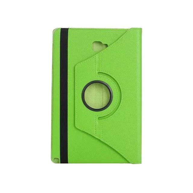 "10.1"" Soft PU Fabric Tablets Case Cover 360 Degree Swivel Holder for Samsung Tab A 10.1 P580/P585 green 10.1"