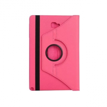 "10.1"" Soft PU Fabric Tablets Case Cover 360 Degree Swivel Holder for Samsung Tab A 10.1 P580/P585 rose red 10.1"