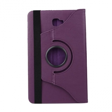 "10.1"" PU Fabric Tablets Case Folding 360 Degree Swivel Cover for Samsung Galaxy Tab A 10.1 P580/P585 purple 10.1"