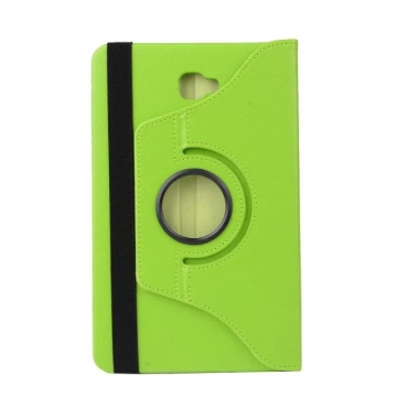 """10.1"""" PU Fabric Tablets Case Folding 360 Degree Swivel Cover for Samsung Galaxy Tab A 10.1 P580/P585 green 10.1"""