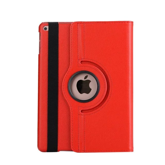 """9.7"""" Tablets Leather Cover 360 Degree Swivel Case with Holder for iPad pro 9.7 red 9.7"""