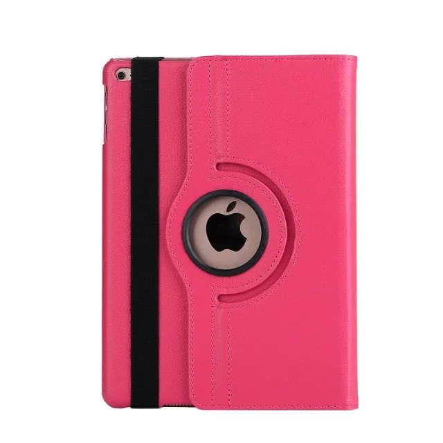 """9.7"""" Tablets Leather Cover 360 Degree Swivel Case with Holder for iPad pro 9.7 pink 9.7"""