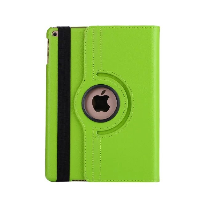 """9.7"""" Tablets Leather Cover 360 Degree Swivel Case with Holder for iPad pro 9.7 green 9.7"""