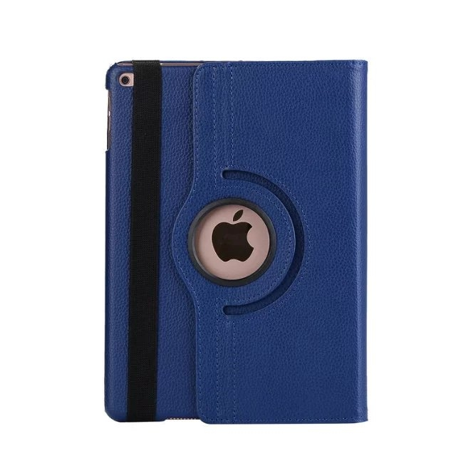 """9.7"""" Tablets Leather Cover 360 Degree Swivel Case with Holder for iPad pro 9.7 blue 9.7"""