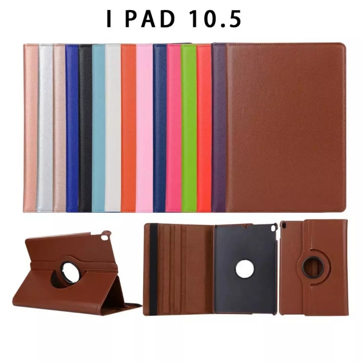 "10.5"" 360 Degree Swivel Tablets Case Foldable Cover Holder for iPad Pro 10.5 white 10.5"