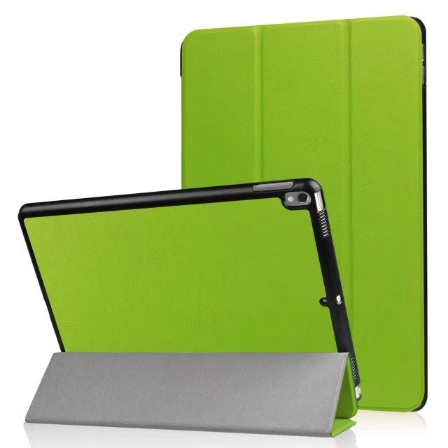"10.5"" Smart Cover Folding Fiber Leather Tablets Slim Case for iPad Pro 10.5 green 10.5"