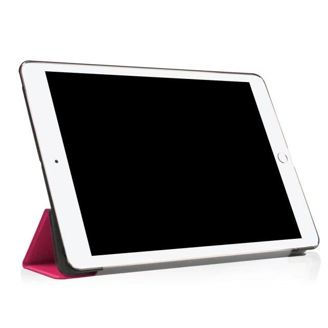 "10.5"" Smart Cover Folding Fiber Leather Tablets Slim Case for iPad Pro 10.5 pink 10.5"