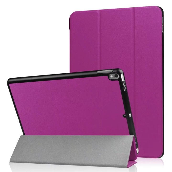 "10.5"" Smart Cover Folding Fiber Leather Tablets Slim Case for iPad Pro 10.5 purple 10.5"