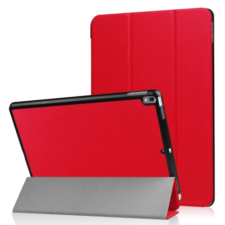 """10.5"""" Smart Cover Folding Fiber Leather Tablets Slim Case for iPad Pro 10.5 red 10.5"""