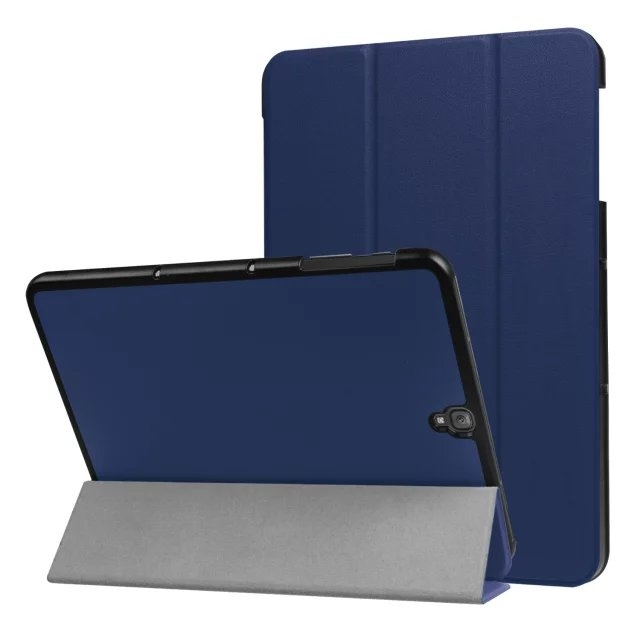 """9.7"""" Fiber Leather Tablets Case Folding Slim Cover for Samsung Galaxy Tab S3 9.7 T820 blue 9.7"""