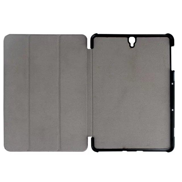 "9.7"" Fiber Leather Tablets Case Folding Slim Cover for Samsung Galaxy Tab S3 9.7 T820 orange 9.7"