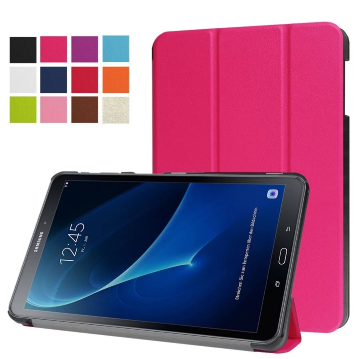 """10.1"""" PU Transparent Case Tablets Cover Hard Smart Cover Ultra Slim for Samsung TAB A 10.1 T580N white 10.1"""