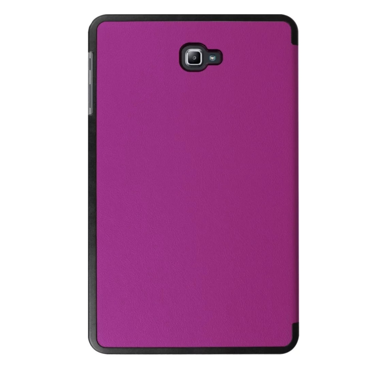"10.1"" PU Transparent Case Tablets Cover Hard Smart Cover Ultra Slim for Samsung TAB A 10.1 T580N purple 10.1"
