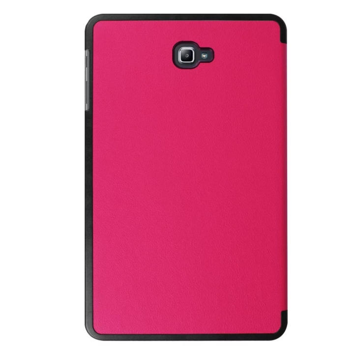 """10.1"""" PU Transparent Case Tablets Cover Hard Smart Cover Ultra Slim for Samsung TAB A 10.1 T580N rose red 10.1"""