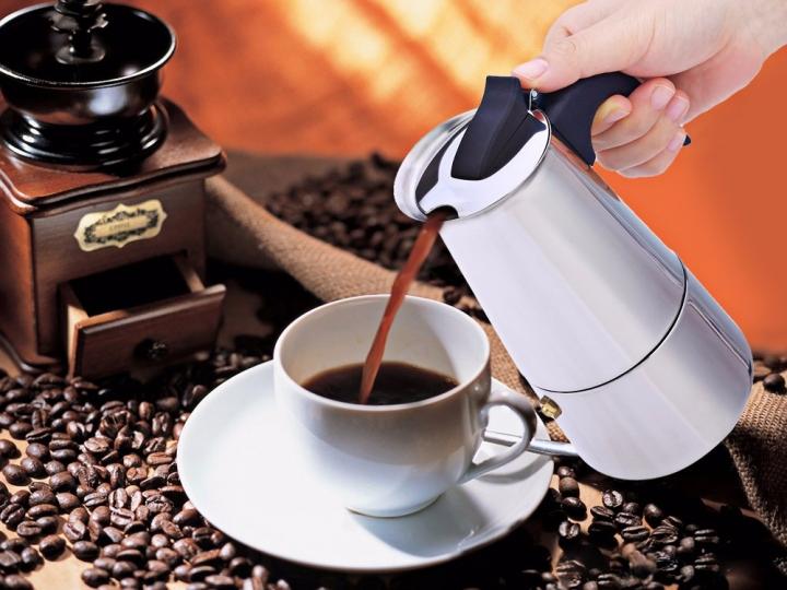 9 Cups 400ml Stainless Steel Mocha Espresso Maker Stovetop Percolator Coffee Pot