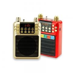 Wireless Voice Amplifier Megaphone Microphone FM MP3 Coach Teacher Guide Speaker