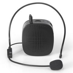 Portable Rechargeable Voice Amplifier Microphone Loudspeaker for Teaching Guide black 5W 01