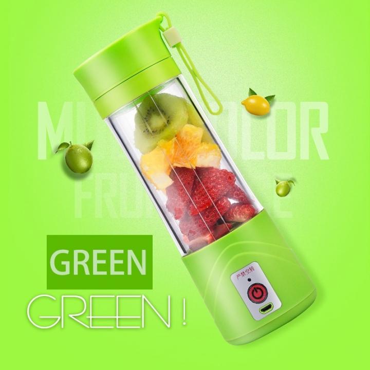 Portable Juicer Cup Rechargeable Blender USB Charge Juicer for vegetables fruit Reamers Bottle Green