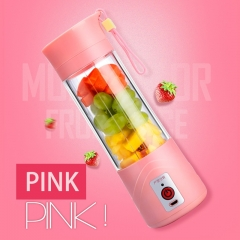 Portable Juicer Cup Rechargeable Blender USB Charge Juicer for vegetables fruit Reamers Bottle Pink