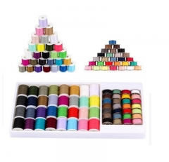 Shevi 60PCS Sewing Thread Mixed Colors Sewing Kit For Sewing Machine Heavy Duty Metal Bobbin