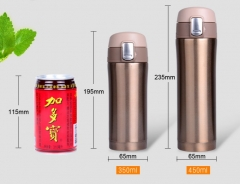 500Ml Thermoses Cup Stainless Steel Vacuum Cup Insulated Coffee Mug Travel Drink Bottle gold