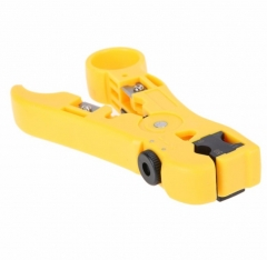 New Universal Wire Stripper Cable Wire Jacket Stripper With Cable Cutter yellow One Size