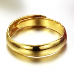 Wedding Rings Holiday Gift Classic type Gold Ring for Couples Lovers and Friends golden one size