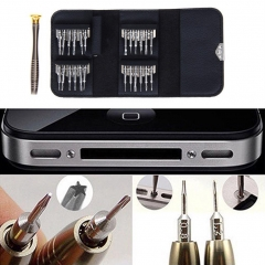 25-in-1 Cell Phone Repair Tools Set Precision Torx Screwdriver for iPhone Laptop Cellphone silver 25pcs